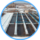 Аэротенки очистных сооружений канализации